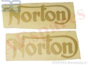 NORTON-COMMANDO-750-850-PETROL-FUEL-TANK-GOLDEN-STICKER-DECAL-SET-OF-2-AUD