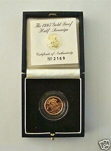 1995 British Royal Mint St George Gold Proof Full Sovereign Coin PCGS PR69 DCAM