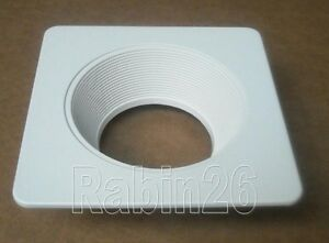4 Quot Inch Recessed Can Light Step Trim Baffle Square Ring