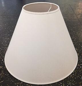 Lampenschirm-fuer-Haengeleuchte-aus-Baumwolle-weiss-37-cm-E27-konisch-Stoff-Schirm