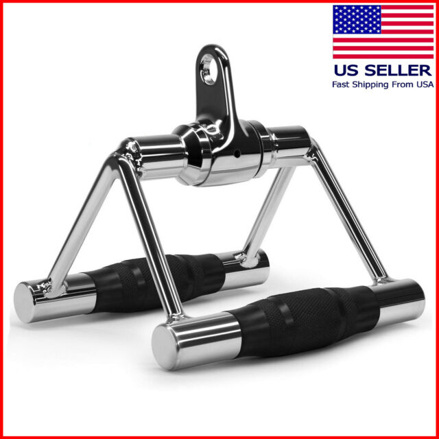 Multi Gym Training Cable Attachment Seated Row V Handle Close Grip Lat Bar sifin