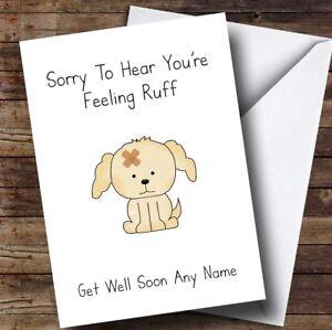Feelin ruff get well soon cards
