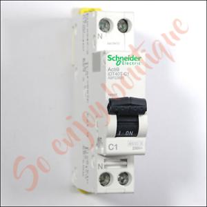 10A Disjoncteur Acti9 iDT40T 1P+N 4500A//6kA courbe C