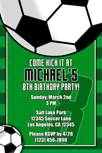 Soccer invitations personalized birthday party shipped or image is loading soccer invitations personalized birthday party shipped or printable filmwisefo