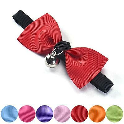 Cute Pet Dog Collars Adjustable Bow Tie With Bell Puppy Cat Necktie New Ошейники