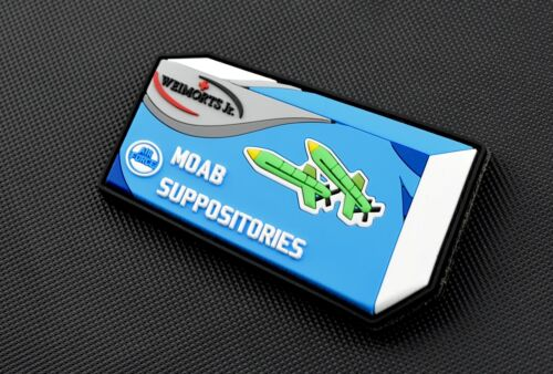 MOAB Suppositories 3D PVC Rubber Morale Patch Mother Of All Bombs ISIS hook//Loop