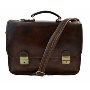Borsa-uomo-donna-cartella-pelle-valigetta-24-ore-vera-pelle-marrone