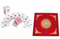Western Mahjong Table Cover Mah Jongg Mahjongg Mat Red /mah Jong Playing Cards