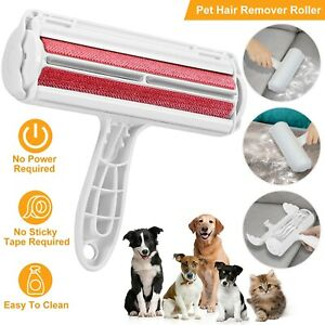 Reusable Pet Hair Remover Dog Cat Fur Roller Sofa Clothes Lint Cleaning  Brush | eBay