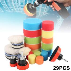 29x-1-3-034-Buffing-Waxing-Polishing-Foam-Pads-Kit-For-Car-Polisher-Drill-M14
