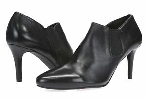 Cole Haan Maxfield Womens Black Leather Slip On Pointed Toe Ankle Boots Size 9