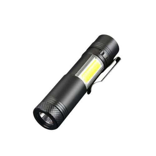 Super Bright 35000LM Q5+COB LED Flashlight Mini Portable 4Modes Zoom Torch Light