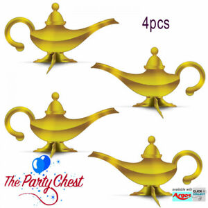Details About 4 3d Genie Lamp Table Centres Arabian Night Aladdin Genie Lamp Party Decorations