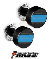 2 Black Billet Aluminum License Plate Frame Tag Bolts - BLUE LINE IR5