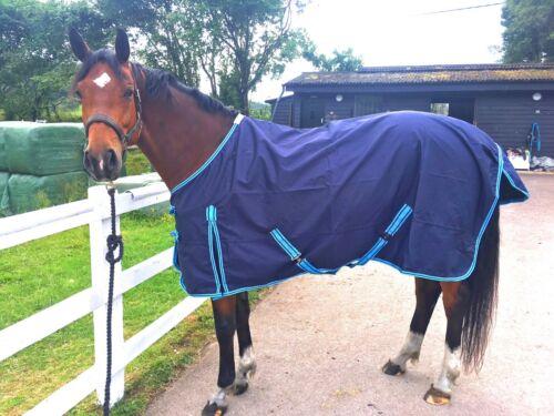 Cwell Equine Light Weight NAVY BLUE turnout rug//rain sheet no fill 600 Denier