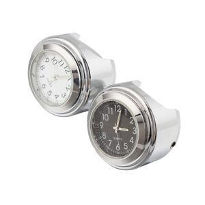 7-8-034-1-034-Universal-Motorcycle-Dial-Handlebar-Mount-Watch-Clock-For-Suzuki-Set