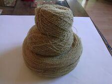PELOTES N10 LIN BEIGE & IVOIRE TRICOT CROCHET 440g linen knotting yarn LINO