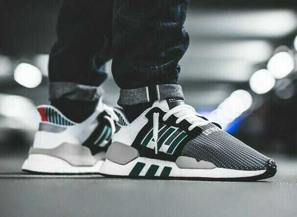 Adidas Originals EQT Equipment Support 9118 Boost Black White Green nmd AQ1037