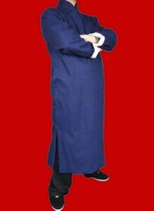 5d2aa56320 Fine Linen Kung Fu Martial Arts Tai Chi Long Coat Robe XS-XL Tailor ...