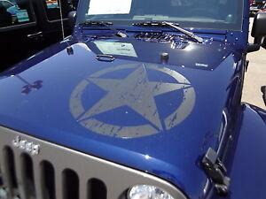 Oscar Mike Jeep >> Wrangler Oscar Mike Special Black Ops Army Star Hood Vinyl ...
