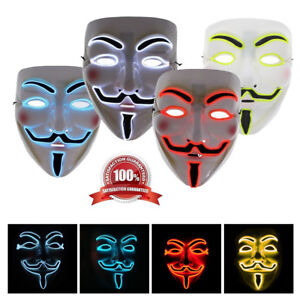 2018 Guy Fawkes DEL Light Up Masque Anonymous Vendetta Halloween Déguisements Purge-afficher le titre d`origine PYCbj6cN-07142056-484687916
