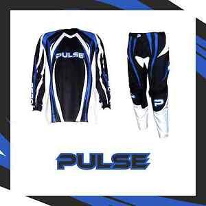 PULSE-MOTOCROSS-MX-ENDURO-BMX-MOUNTAIN-BIKE-KIT-TSUNAMI-BLUE-amp-BLACK-KIT