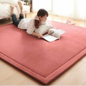 Details About Thick C Fleece Mat Carpet Playmat Home Decor Tea Table Baby Bedroom Rugs New