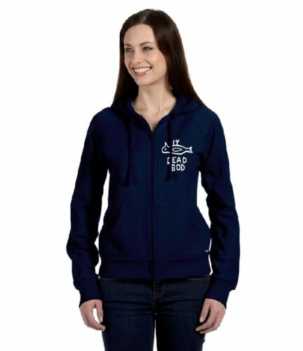 DEAD BOD OFFICIAL Ladies Zipped Hoodie Hull Pongo Clem Wear® city Humber culture