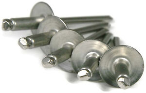 100 Stainless Steel Closed END POP Rivets 4-4 Grip 1//8 x .485 .188 - .250
