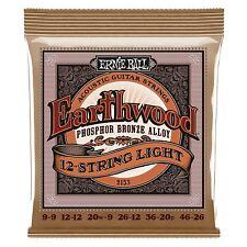 ERNIE Ball Earthwood bronzo al fosforo 12 string CORDE CHITARRA ACUSTICA Luce