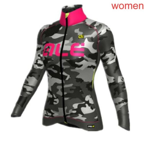 Womens Pro Team Cycling Jersey bicycle shirt Long Sleeve breathable bike uniform