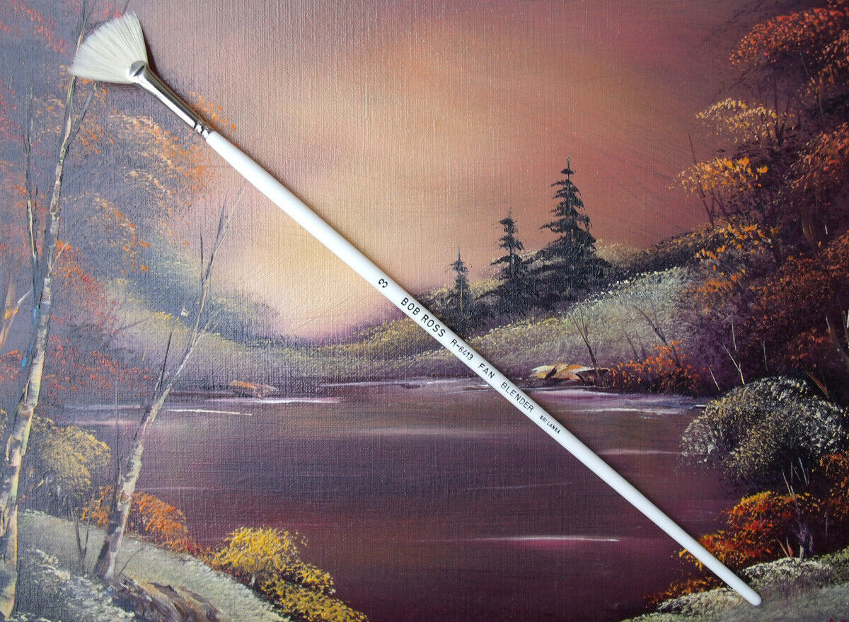 Assorted Types Bob Ross Landscape Series Oil Painting Natural Bristle Brushes