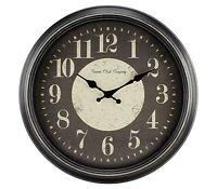 4646g Geneva Clock Company 15.75 Plastic Antique Black Finish Analog Wall Clock