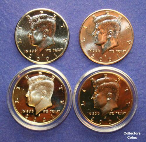 5 Silver /& 5 Clad Proofs 2000-2004 Kennedy Half 20 Coin PDSS Set w10 PD BU
