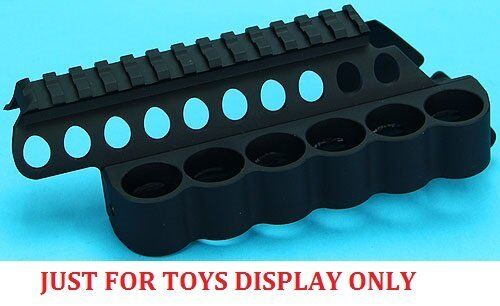 G/&P Dummy Shotshell Toys Pouch Receiver Rail Short for Marui M870 GBB GP-MSP001S