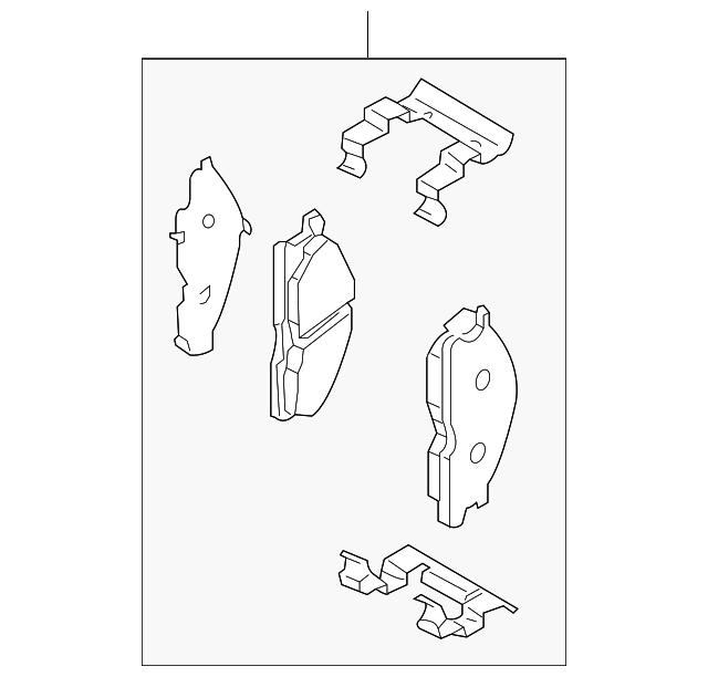 NISSAN OEM Brake-Front Pads D10609FE0A