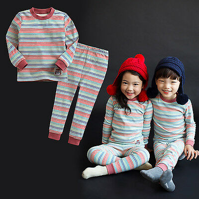 "Vaenait Baby Toddler Kid Boy Girls Clothes Sleepwear Pyjama Set ""Rainbow"" 12M-7T"
