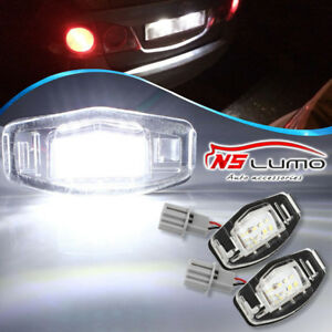 Details about 2x 18 LED License Plate Light Direct Fit For Acura TL TSX MDX  Honda Civic Accord