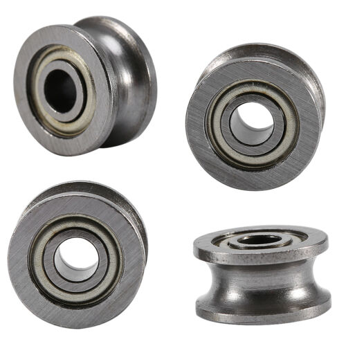 10pcs U624ZZ U Groove Ball Bearing Guide Pulley For Rail Track Linear 4*13*7mm U