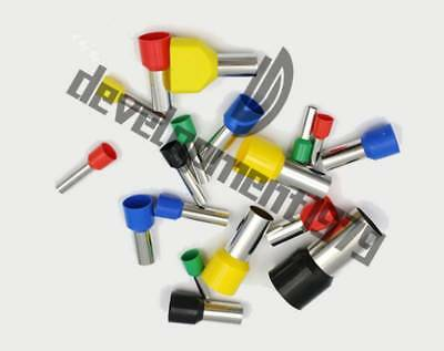 uxcell 1000pcs E4009 12 AWG Insulated Ferrule Pin Crimp Terminals