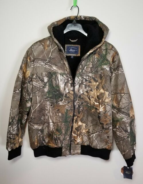 69ba4e836 GH Bass Heavy Real Tree Camo Jacket Hood Men's Size XXL / Tag