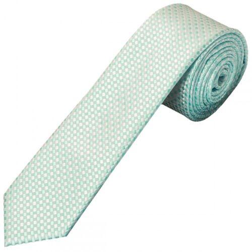 Mint Green Diamond Neat Skinny Men/'s Tie and Pocket Square Set Thin Tie Slim Tie