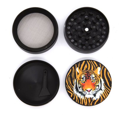 "1.9/""  50 mm 4 Part UV Print Tiger A Grinder USA SELLER 15550AN"