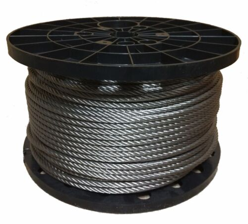 """100 Feet 3//16/"""" Stainless Steel Aircraft Cable Wire Rope 7x19 Type 304"""