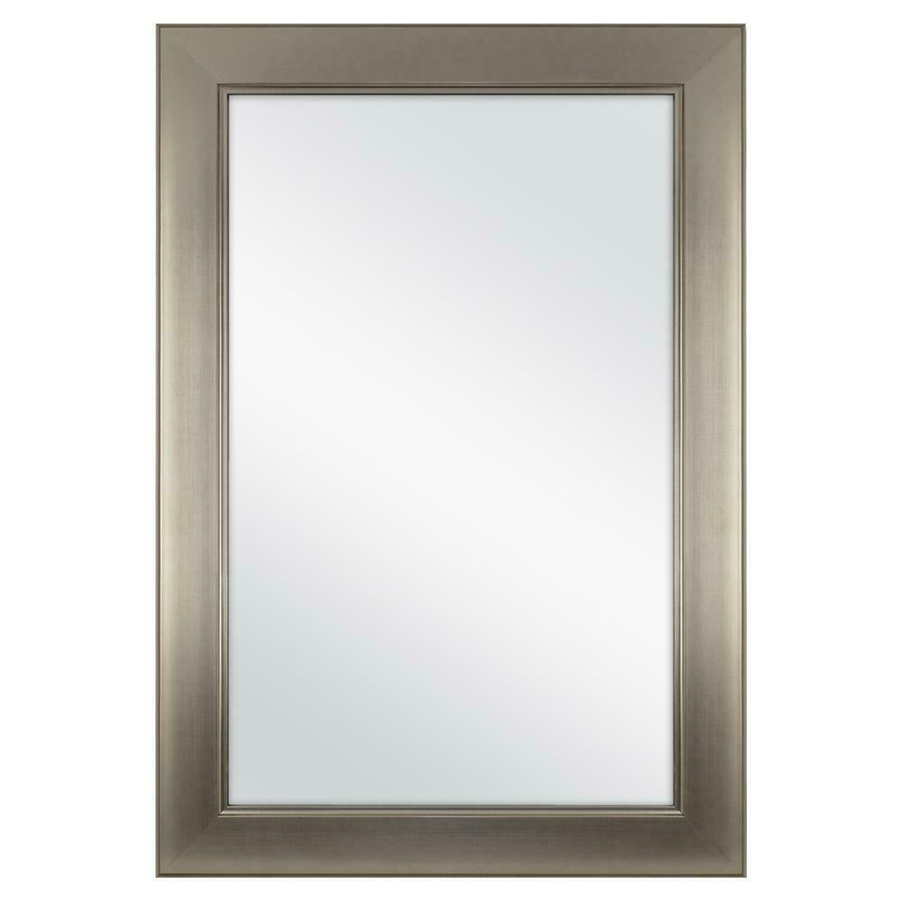Home Decorators Collection 24 X 35 Framed Bath Mirror In Brushed Nickel 81156c For Sale Online