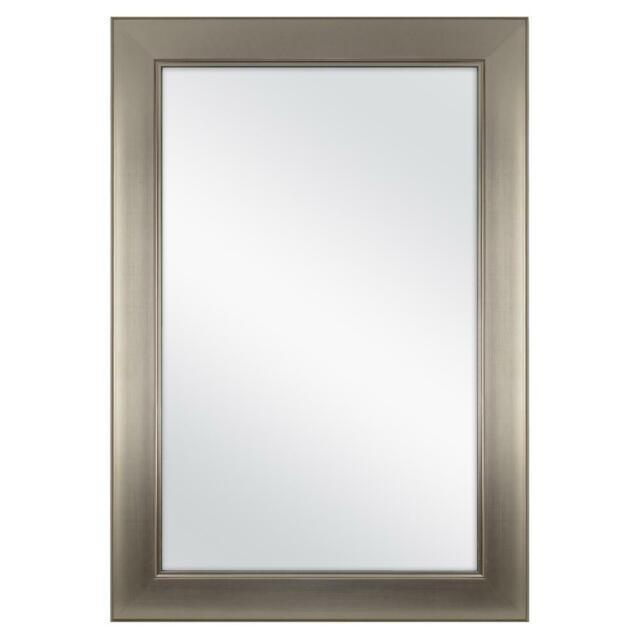 Framed Bath Mirror In Brushed
