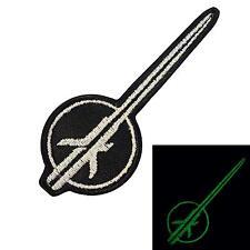 starwars jedi knight video game glow dark GITD embroidered sew iron on patch