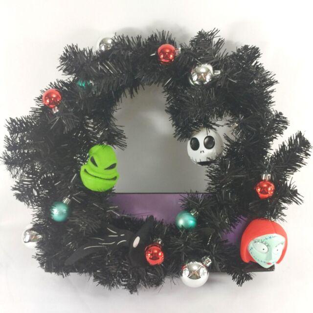 bc0bd9d88bf Disney Nightmare Before Christmas Wreath Jack Skellington Sally Oogie Boogie  Z1