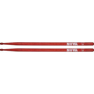 12 Pair Brick Bundle Nova VF-N5AR By Vic Firth Wood Tip Red Drum Sticks