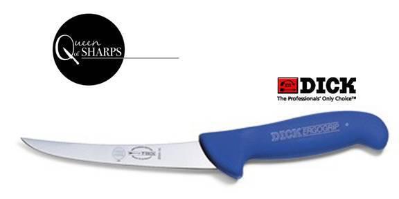 "F.Dick Boning Knife 6"" Curved Narrow Blue 8299115 - FREE POST"